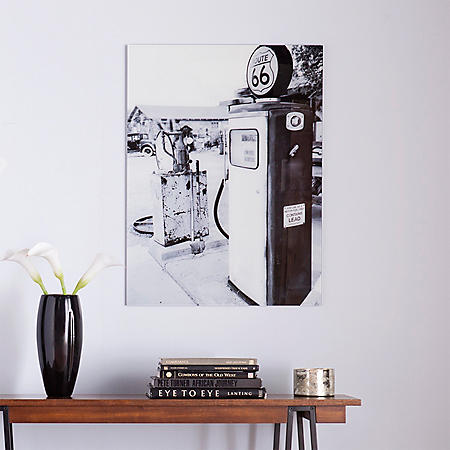 Filling Station Floating Glass Wall Art