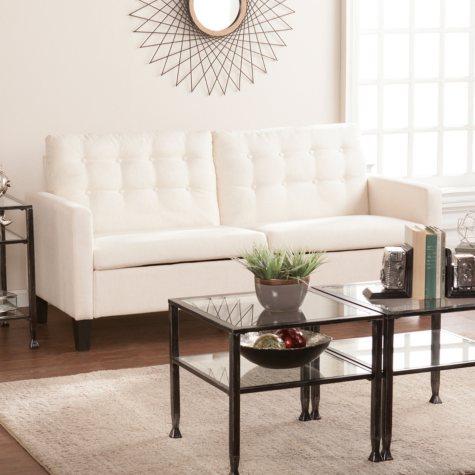 Breana Midcentury Modern Sofa, Oatmeal