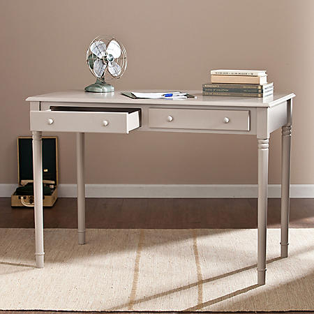 Janni 2-Drawer Writing Desk, Gray