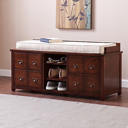Large Apothecary Storage Bench