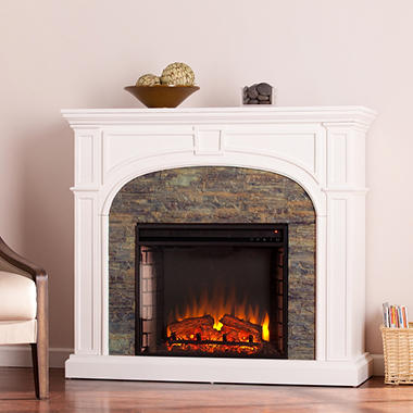 Winsted Stone Electric Fireplace - Sam\'s Club