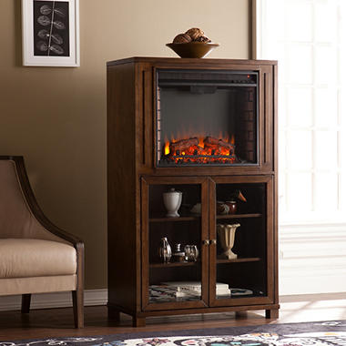 Blaine Electric Fireplace Storage Tower
