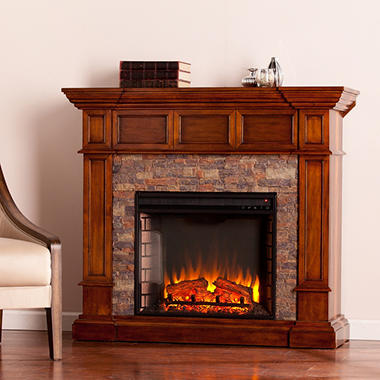 Miller Stone Convertible Electric Fireplace