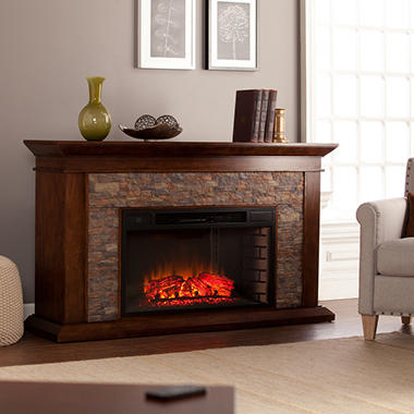 Cumberland Electric Fireplace Whiskey Maple Sam S Club