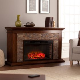 Berland Electric Fireplace Whiskey Maple