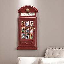 Connor Wall-Mounted Photo Frame, Red Telephone Booth