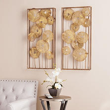 Shea Sculpted Wall Art, 2-Piece Set