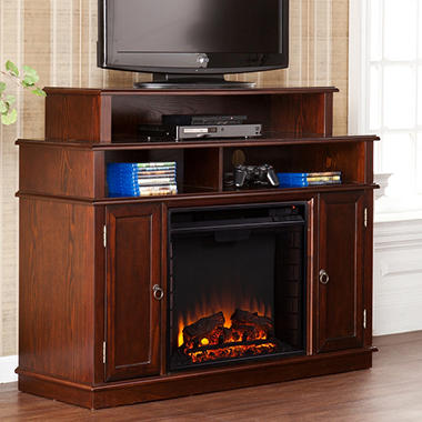 Towneshippe Media Console Fireplace - Espresso