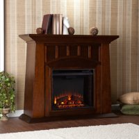 Tallow Electric Fireplace in Espresso