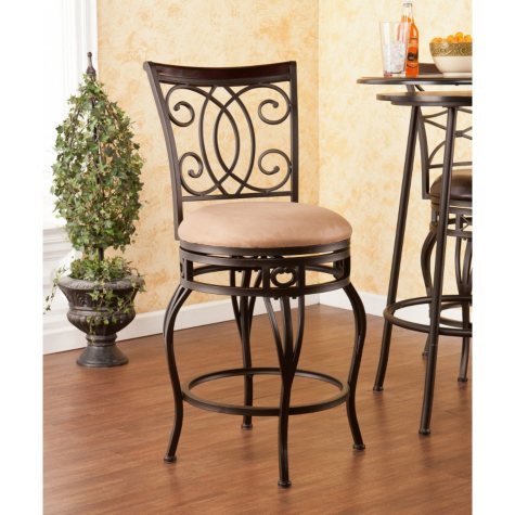 "Novali Swivel 25"" Counter-Height Stool"