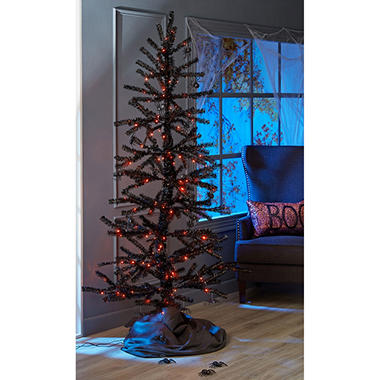 members mark 7 ft halloween moving tinsel tree sams exclusive - Sams Christmas Decorations