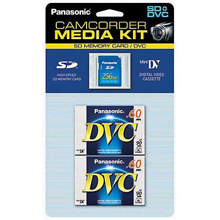 60 Minute Mini-DV Tape - 2 pk. w/ 256MB SD Card