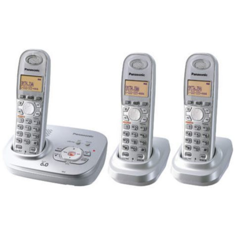 Panasonic DECT 6.0 Pearl Phone System w/3 Handsets