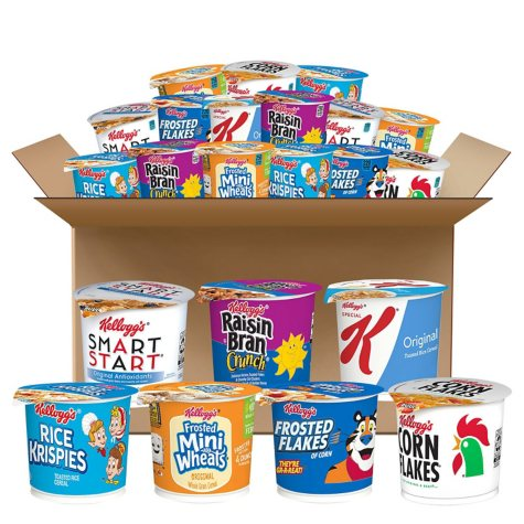 Kellogg's Cereal in a Cup, Classic Assortment Pack (60 ct.)