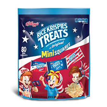 Kellogg's Rice Krispies Treats Mini-Squares, Red, White and Blue (80 ct.)