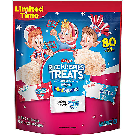 Kellogg's Rice Krispie Treat Patriotic Mini's (80 ct.)