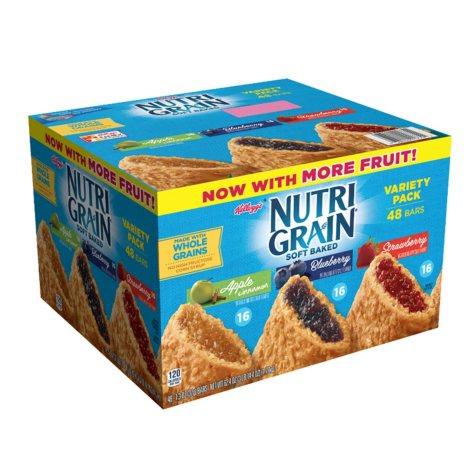 OFFLINE-Kellogg's Nutri-Grain Variety Pack (1.3 oz., 48 ct.)