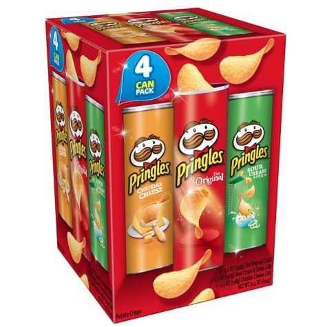 Pringles Super Stack Variety Pack (4 ct.)