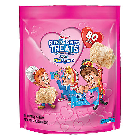 Kellogg's Rice Krispies Treats Valentine's Addition Mini-Squares (80 ct.)
