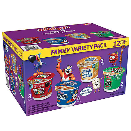 Kellogg's Cereal in a Cup Variety Pack (12 ct.)