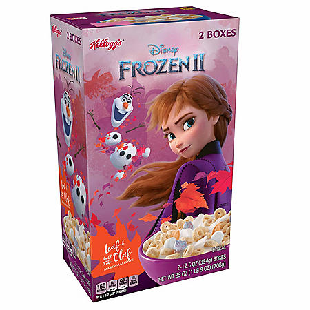 Kellogg's Disney's Frozen 2 Breakfast Cereal, Original with Olaf and Leaf Marshmallows (25 oz.)
