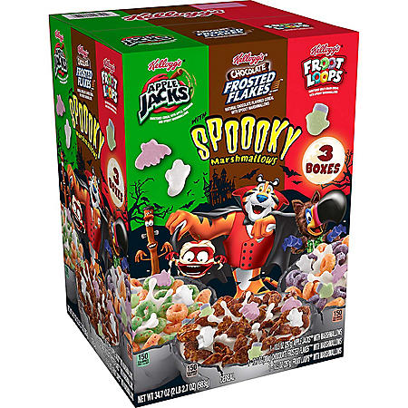 Kellogg's Halloween Edition Breakfast Cereal, Variety Pack (34.7 oz.)