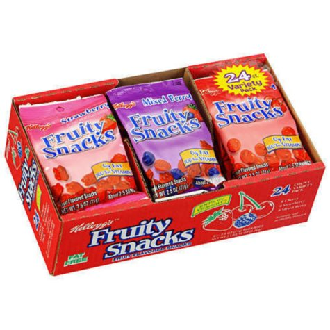 Kellogg's Fruity Snacks Variety Pack (2.5 oz., 24 ct.)