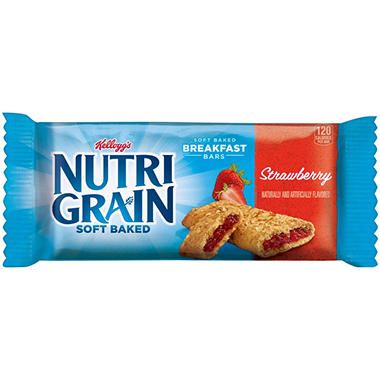 Kellogg's Nutri-Grain Strawberry Cereal Bars (1.3 oz., 16 ct.)