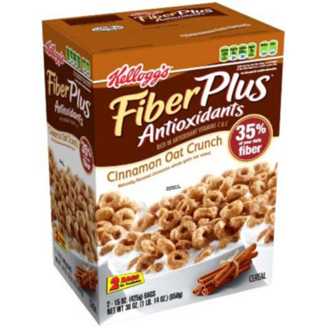 Kellogg's® FiberPlus Cinnamon Oat Crunch Cereal