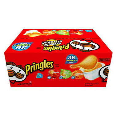 Pringles Snack Stacks Variety Pack (36 ct.)