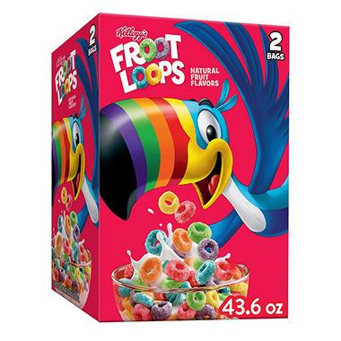 kellogg s froot loops cereal 43 6 oz sam s club