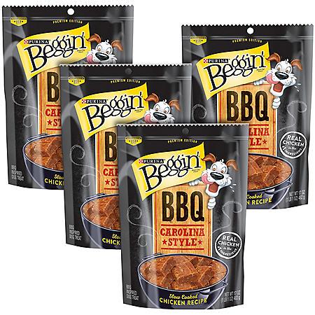 Purina Beggin' Dog Treats, BBQ Carolina Style Chicken (17 oz., 4 pk.)