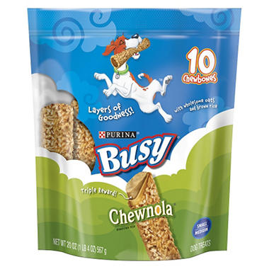 Purina Busy Chewnola Chewbones Dog Treats - 20 oz. - 10 ct.