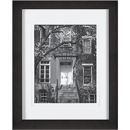 "Gallery Solutions 11"" x 14"" Black Frame with White Mat"