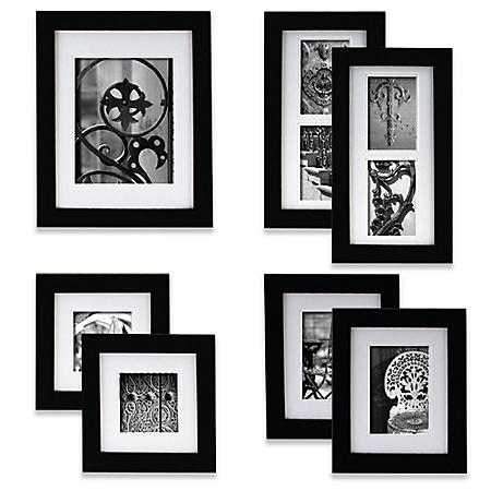 Gallery Perfect 7-Piece Portrait Frame Set, Black