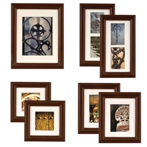 Gallery Perfect 7-Piece Portrait Frame Set, Walnut