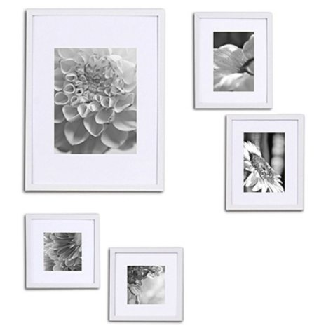 5-Piece Wall Frame Kit, White