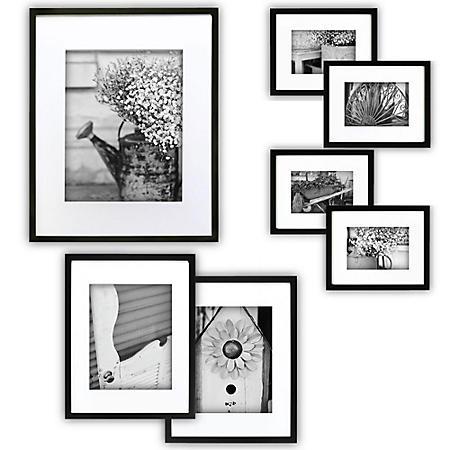 Gallery Perfect 7-Piece Frame Set, Black