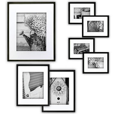 gallery perfect 7 piece frame set black
