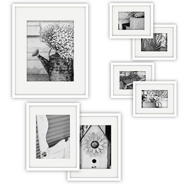 Gallery Perfect 7-Piece Frame Set, White - Sam\'s Club