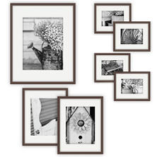 Gallery Perfect 7-Piece Frame Set, Walnut