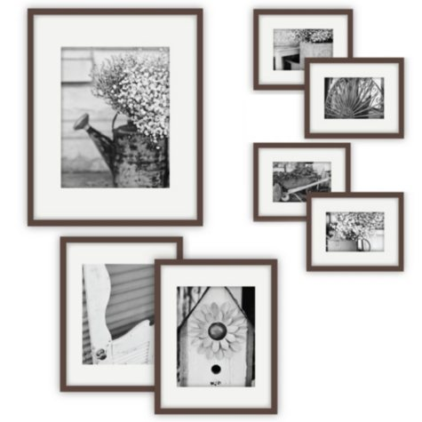 Gallery Perfect 7-Piece Frame Set, Walnut