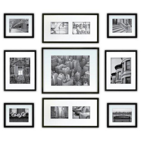 9-Piece Photo Frame Kit, Black
