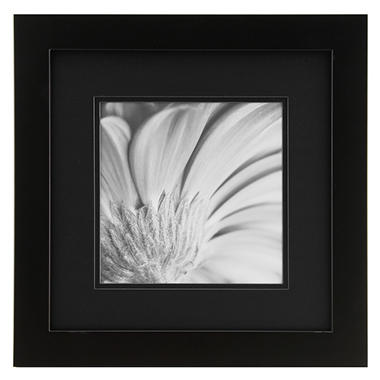 Gallery Solutions 12x12 Black Woodblack Mat To 5x5 Gallery Picture