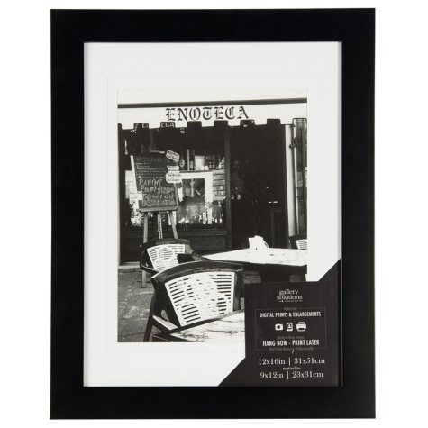 12 x 16 Wide Photo Frame, Black