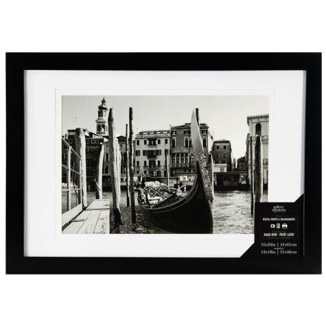 16 x 24 Wide Photo Frame, Black