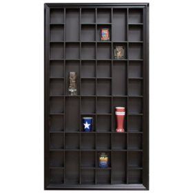 17 x 32 Decorative Shot Glass Case, Black