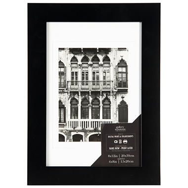 8 x 12 Wide Photo Frame, Black