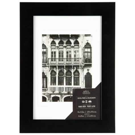 8 x 12 Wide Photo Frame, Black