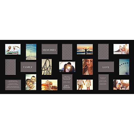 21 Opening Collage Photo Frame, Black